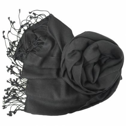 Etole en cachemire et soie NZO SBARBERI noire