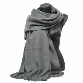 Grande étole en cachemire  NZO SBARBERI grise