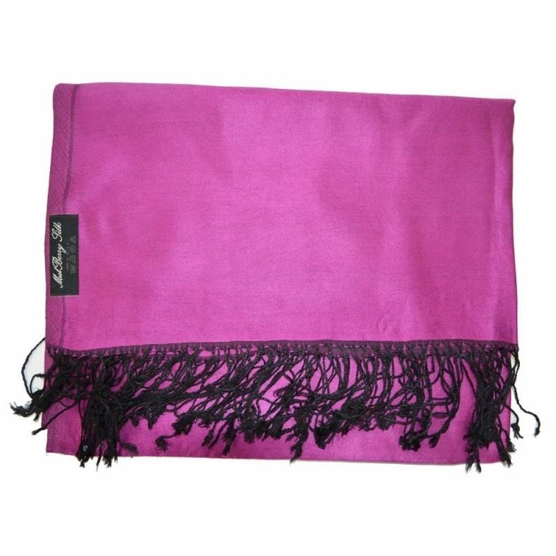 Etole en soie indienne rose fuschia