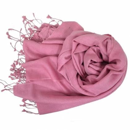Etole en cachemire et soie NZO SBARBERI rose