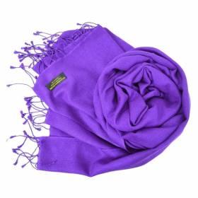 Etole en cachemire et soie NZO SBARBERI violette