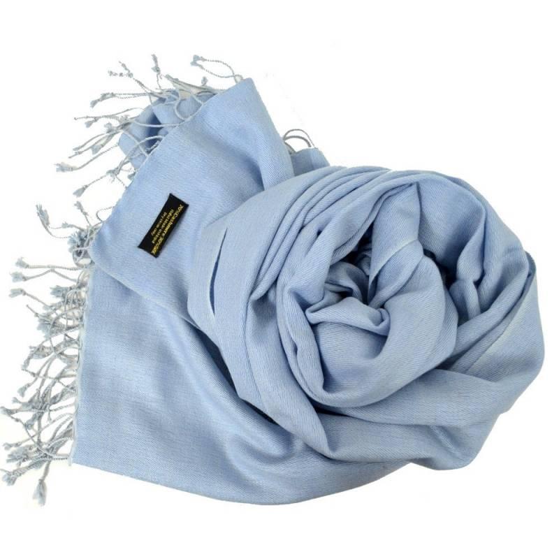 Etole en cachemire et soie NZO SBARBERI bleu chiné