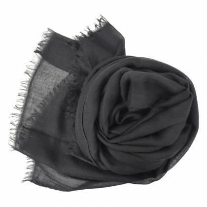 Vrai pashmina en cachemire noir
