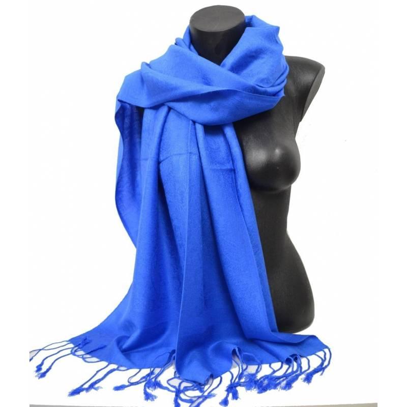Pashmina mixte bleu