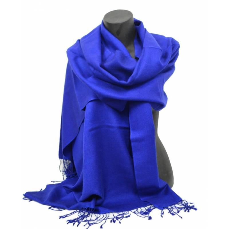 Etole en cachemire et soie NZO SBARBERI bleu indigo