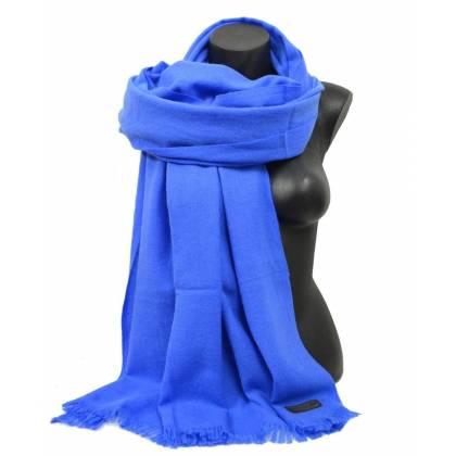 Grande étole en cachemire  NZO SBARBERI bleue