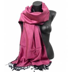 Etole en soie indienne rose