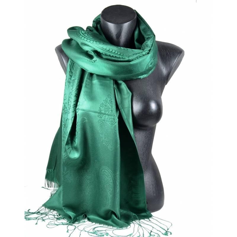 Pashmina soie et viscose vert