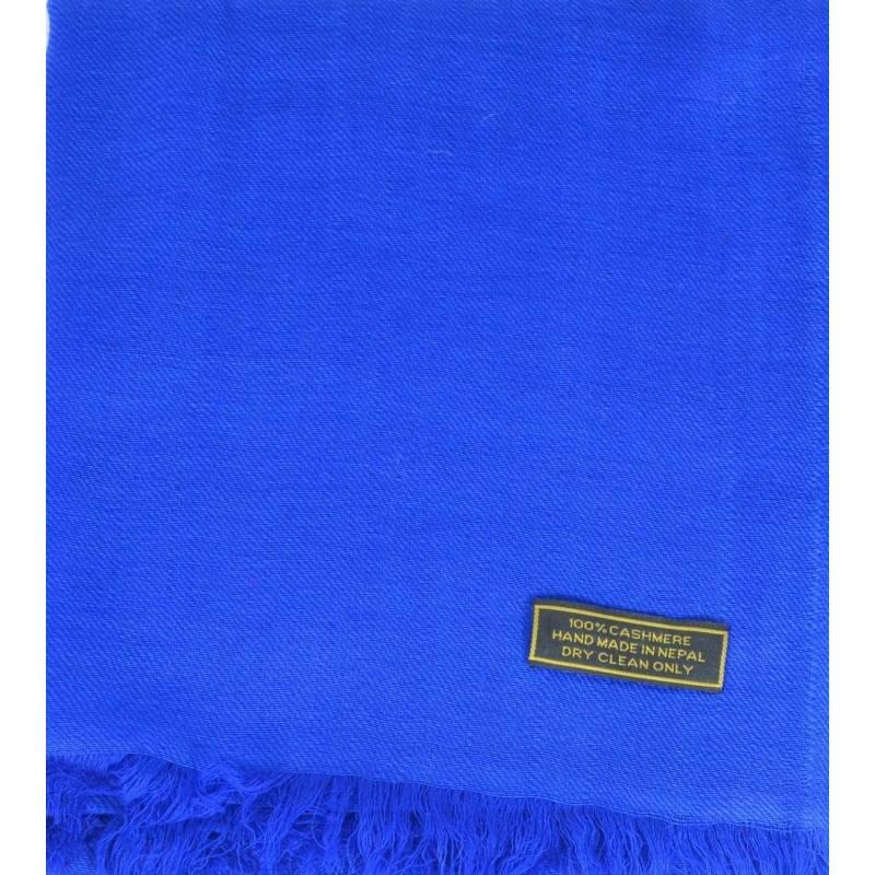 Vrai pashmina en cachemire bleu roi 749db1708a4