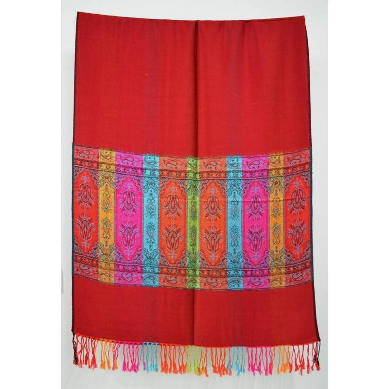 Pashmina indien rouge