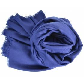 Grand pashmina en laine bleu marine