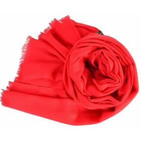 Grand pashmina en laine rouge