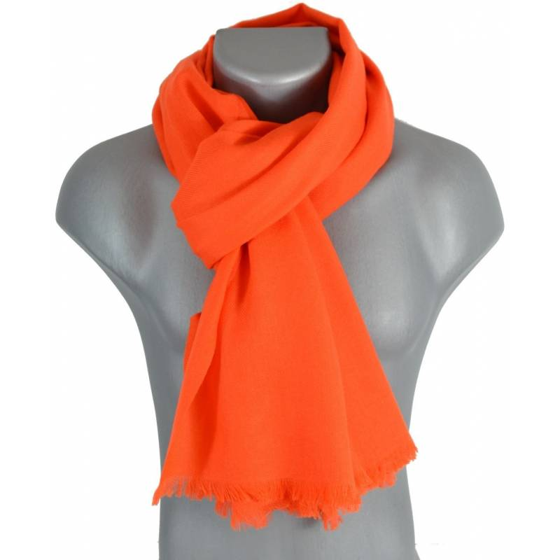 3949d854f32 Grand pashmina en laine orange