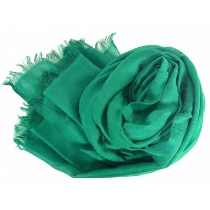 Vrai pashmina en cachemire vert foncé