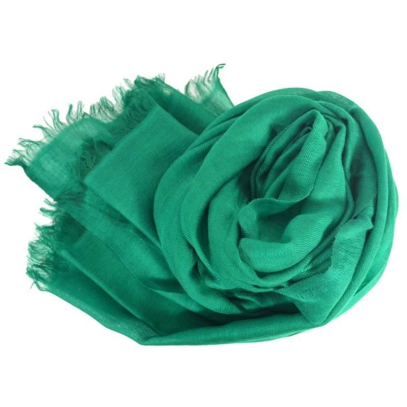 Vrai pashmina en cachemire vert foncé 833897a49a5