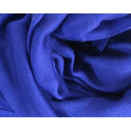 Vrai pashmina en cachemire bleu marine