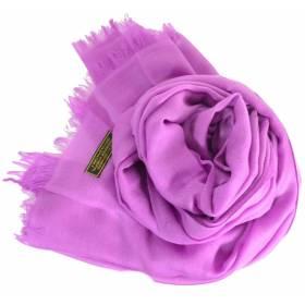 Vrai pashmina en cachemire lilas