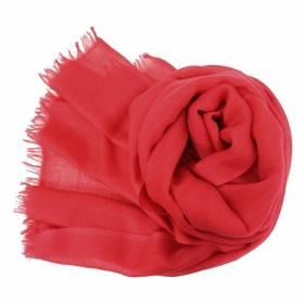 Vrai pashmina en cachemire rouge