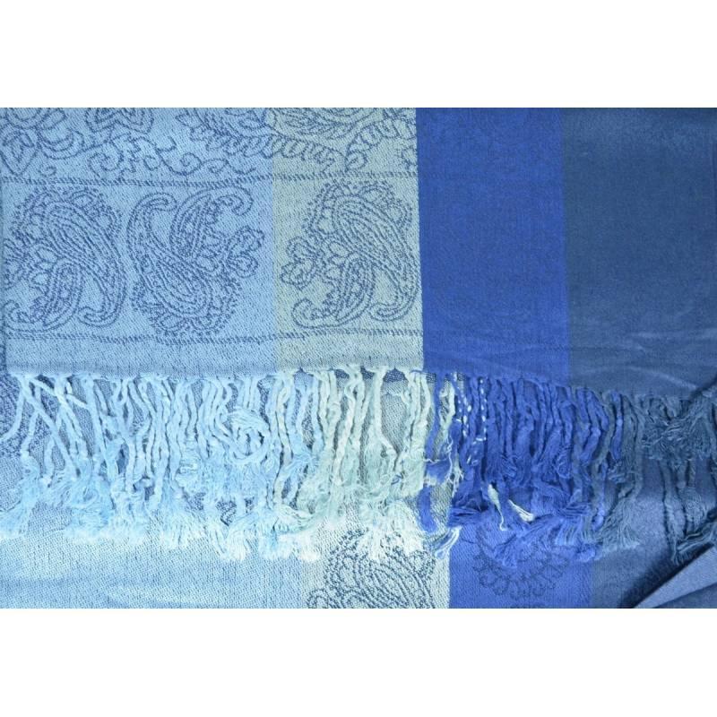 Pashmina mixte - bleu