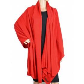 Grand châle en cachemire rouge