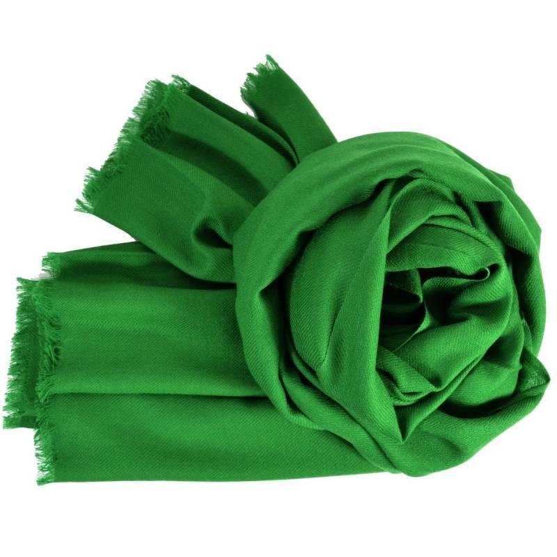 Grand pashmina en laine vert