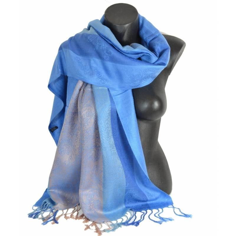 Pashmina mixte - bleu clair