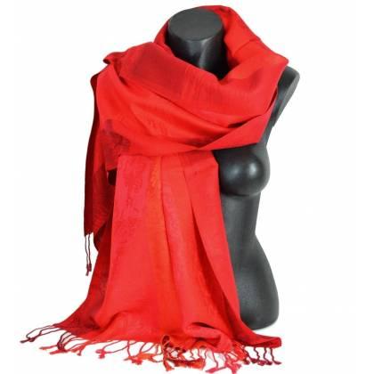Pashmina mixte - rouge beaf0ba1763
