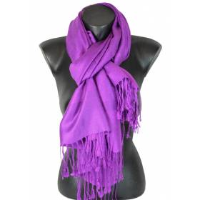 Pashmina paisley uni violet