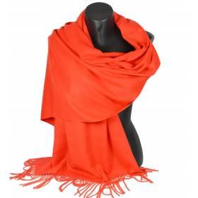 Pashmina cachemire-laine  orange
