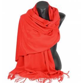 Pashmina cachemire-laine rouge