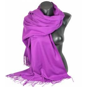 Pashmina cachemire-laine violet