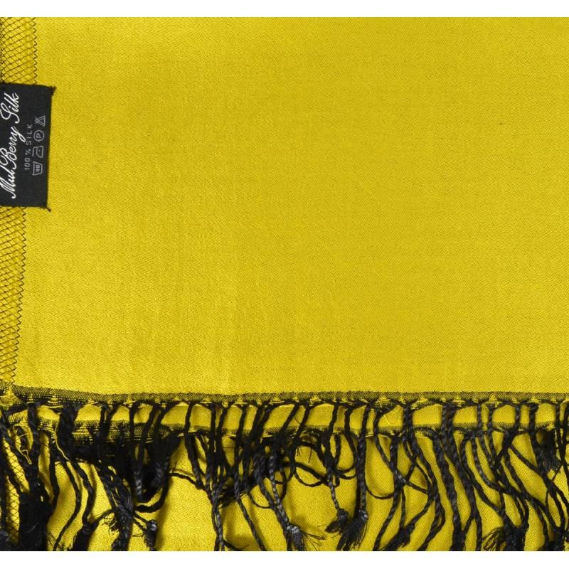 Etole en soie indienne jaune-noir 328f08c202f