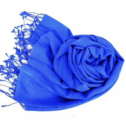 Etole en cachemire et soie NZO SBARBERI bleu roi