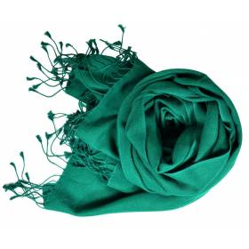 Etole en cachemire et soie NZO SBARBERI vert pin