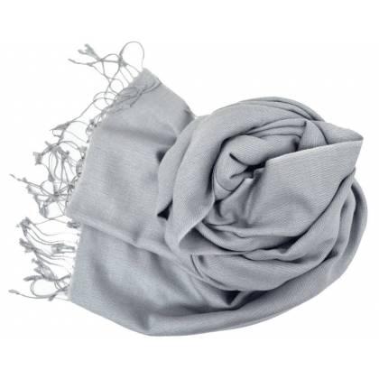 Etole en cachemire et soie NZO SBARBERI gris clair