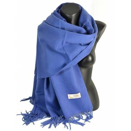 Pashmina en laine bleu