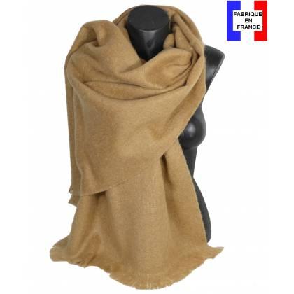 Pashmina mohair beige fabriqué en France