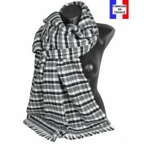 Pashmina velouté gris fabriqué en France